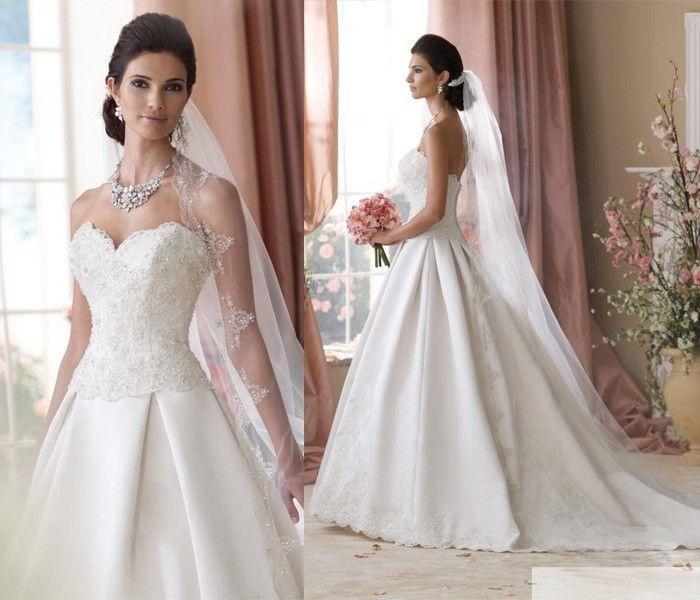 Size 2 Wedding Dresses For  : Wedding new white ivory lace brides dresses gown size