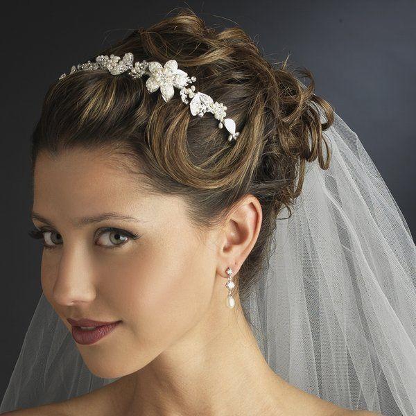 Mariage - TNO regard vintage perle florale Side Accent de mariée mariage Bandeau