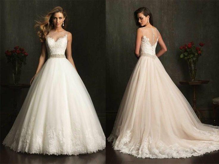 Wedding - Wedding Dress with the waist line belt.