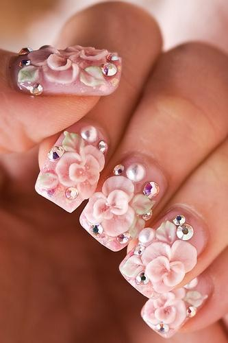 Wedding Nail Designs 3d Nail Art 2057033 Weddbook