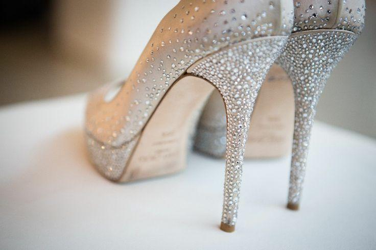 Ivory Jeweled Wedding Shoes