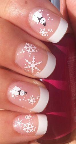 Details About Nail Art Water Decals Transfers Stickers Christmas