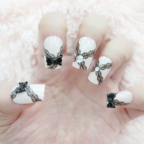 About 3D Design Nail Art Stickers Decals In Black Lace Nail Art Lace ...