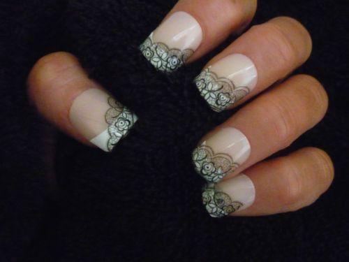 Details About 3d Nail Art Lace Stickers Decals Black Lace Design