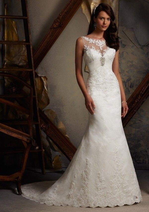 HOT SELL New White/ivory Wedding Dress Custom Size 2-4-6-8-10-12-14 ...