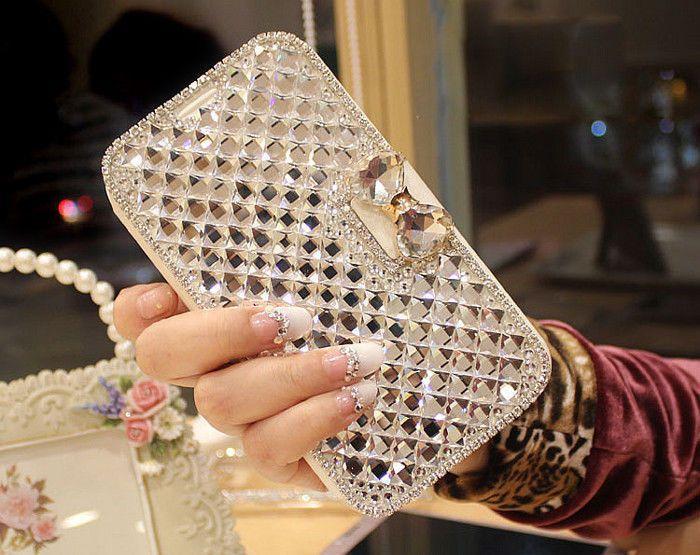Свадьба - Экстремальные Deluxe Bling Diamante Кожаный Чехол Для Apple, Samsung Galaxy Примечание 3