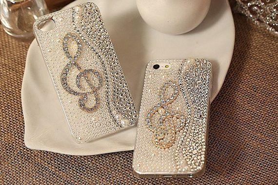 Свадьба - Ручной Шику Crystal 4 4s 5 5s 5c Чехол Музыки Новый Дизайн