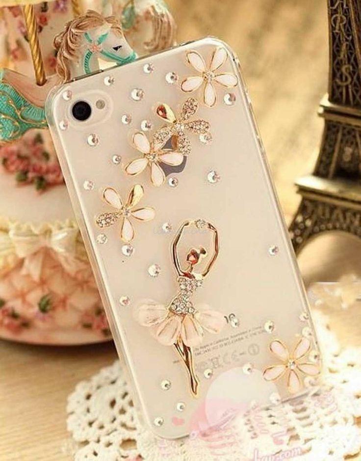 Свадьба - Bling Кристалл Алмазов Балета Девушки Случай кожного Покрова Для Apple IPhone 4 4S 4G