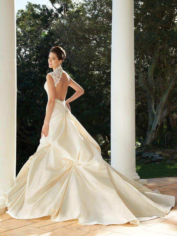 Mariage - Satin A-ligne Appliques Robe de mariée robe nuptiale Taille 2 4 6 8