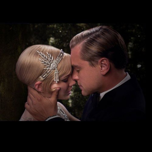 The Great Gatsby Bridal Flower Pearl Hair Tiara Crown Rhinestone Crystal 2063375