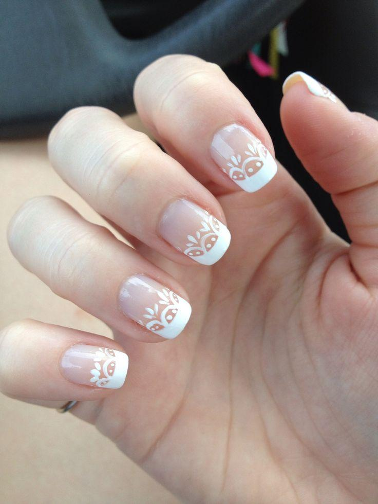 Incredible White French Wedding Nails 736 x 981 · 55 kB · jpeg