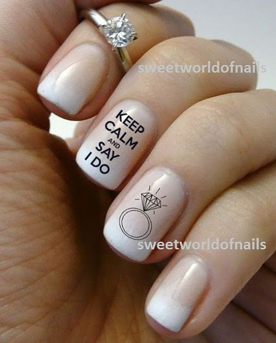 Wedding nail art water decals water transfers i do nails wedding wedding nail art water decals water transfers i do nails wedding ring kn004 prinsesfo Image collections