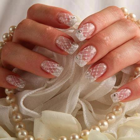 Wedding - Lace Nails