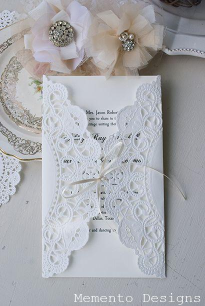 Mariage - Doilie invitations