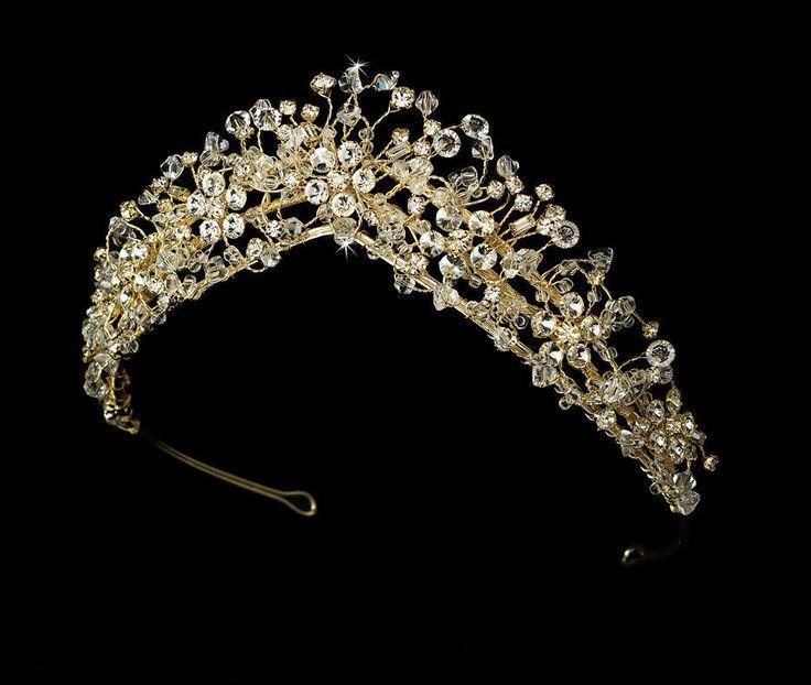 Свадьба - СЗТ новые потрясающие кристалл Couture позолоченный Люкс для свадебная Тиара