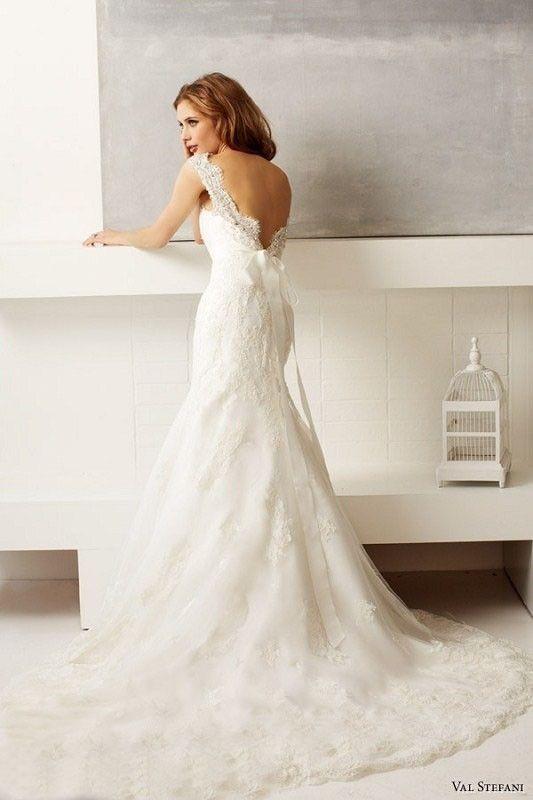 Mariage - New Noble col V blanc / ivoire Robe de mariée sirène personnalisée Taille :4-6-8-10-12