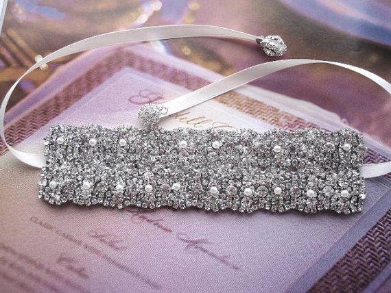 Mariage - Wedding Crystal Bridal Bracelet Cuff Bangle Swarovski Elements