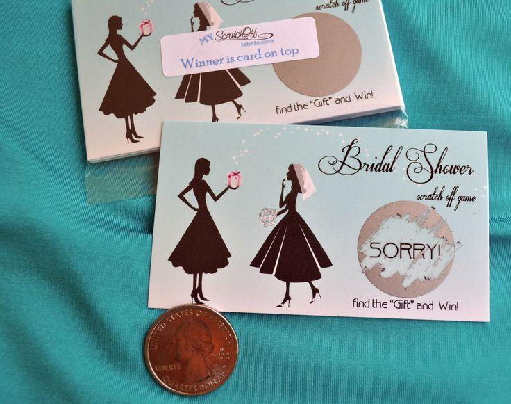Свадьба - Blue Vintage Bridal Shower Wedding Party Engagment Scratch Off Game Card Tickets