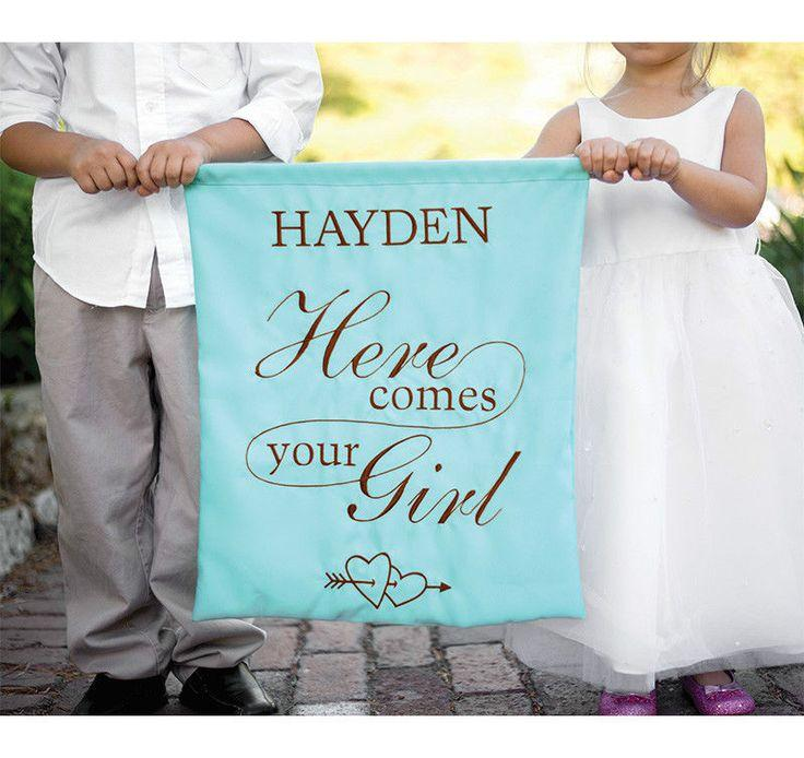 زفاف - Hortense Custom Color Personalized Here Comes Your Girl Wedding Ceremony Banner