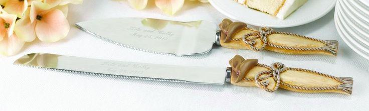 Свадьба - Country Flair Western Theme Personalized Engraved Wedding Cake Serving Set