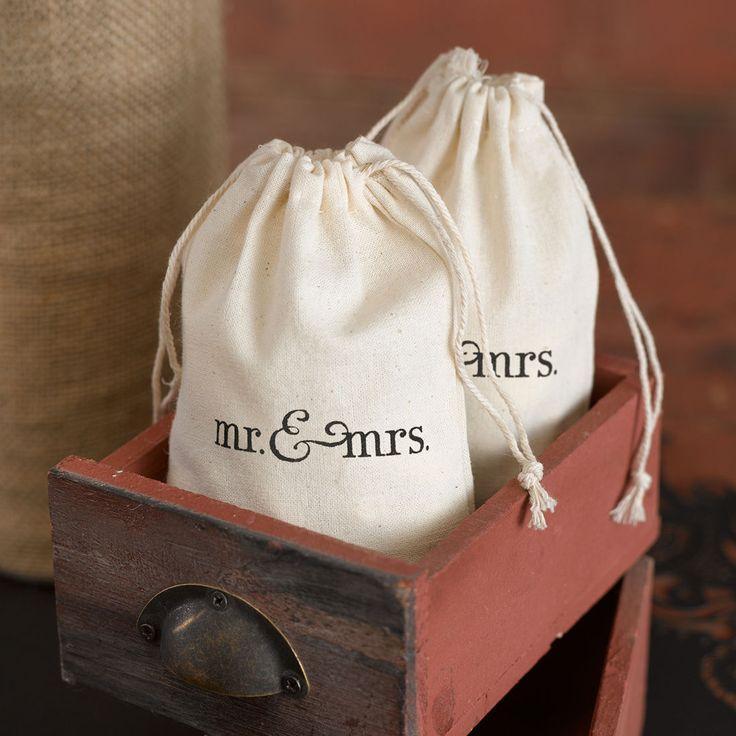 25 mr mrs cotton wedding bridal shower favor bags