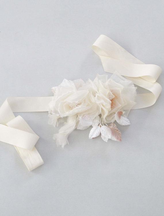 Mariage - Rosalie Bridal Flower  Sash Wedding Belt - New