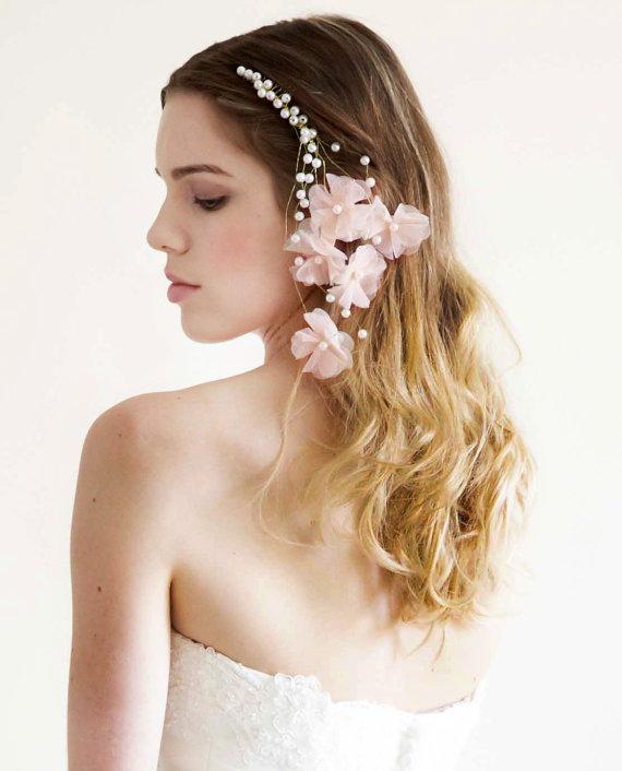 Wedding - Eugenia  Ivory  Pearls Headpiece  Bridal Comb  Wedding - New