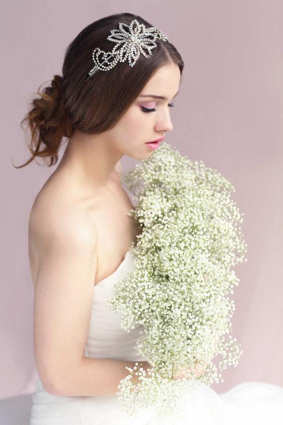 Boda - Anatolia   Swarovski Crystal Headband  Silver Bridal Headpiece  Wedding - New