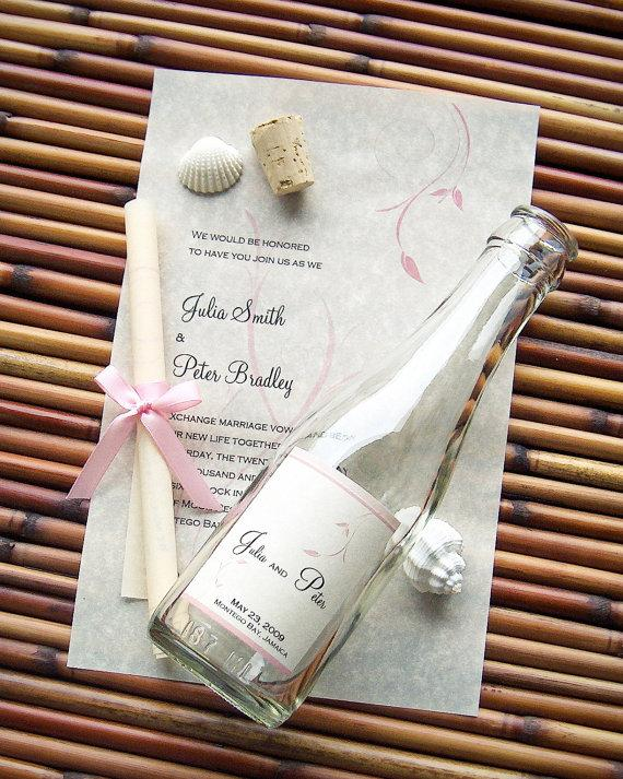 Message In A Bottle Signature Wedding Invitation Sample - Bliss ...