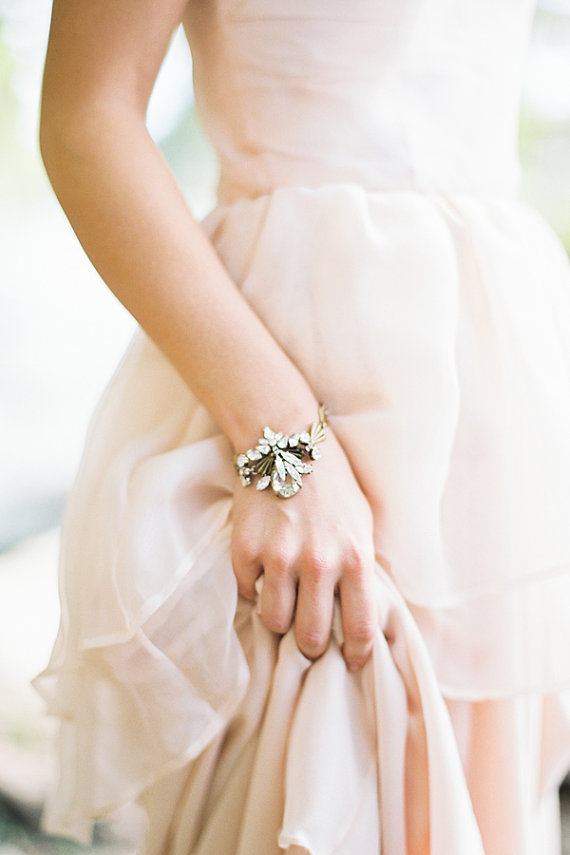 Свадьба - Nikola Bracelet Bridal Wedding Accessory - New