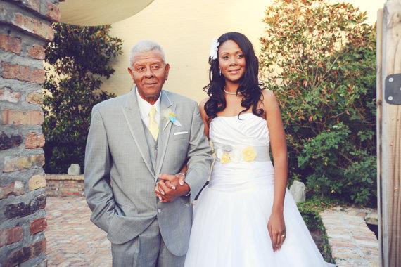 Свадьба - Gray, Yellow & White Wedding Sash, Gray and Yellow Bridal Sash, Gray Wedding Belt, Gray and Yellow - New