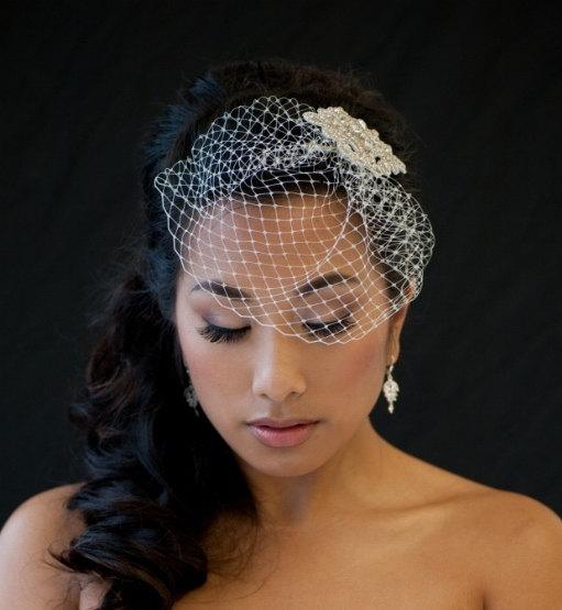 Pee Birdcage Veil 7 Inch Wedding Denise New