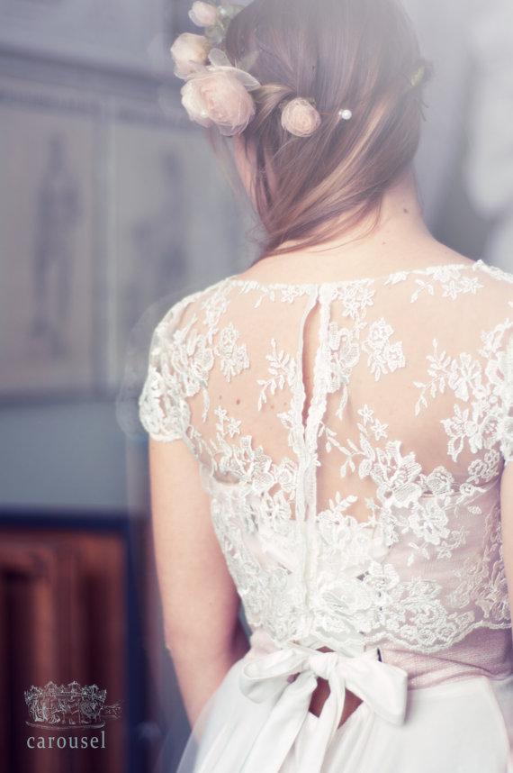 زفاف - Haut de mariage dentelle séparé / / Fleur - New