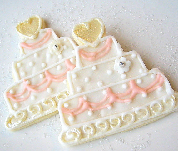 Wedding cookie favor wedding cake sugar cookies all natural home baked