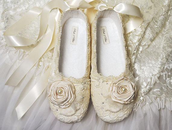 Victoria Bridal Ballet Flat