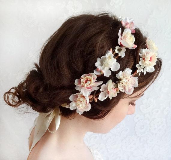 Wedding Flower Crown Suppliers : Ivory flower crown bridal floral weddbook