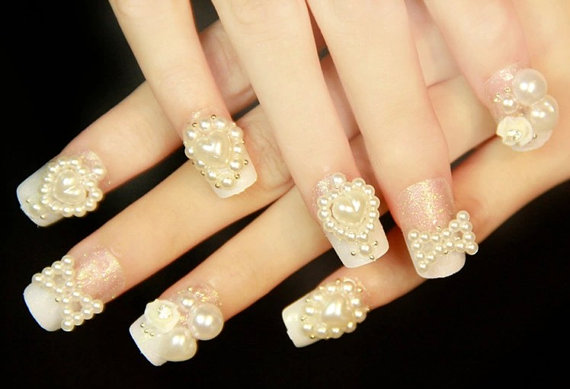 3D Nail Sticker,Pearl Bride Nail Art,Nail Deco,Christmas Nail