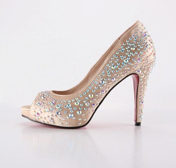 a994214b420 Handmade Copper Rhinestone Wedding Shoes