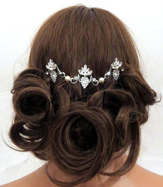 زفاف - Vintage Bridal headpiece -  Swarovski Wedding headpiece