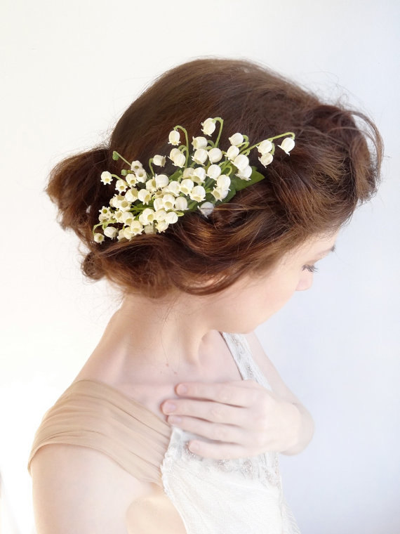 Ivory Lily Of The Valley Hairpiece 6e9cc61a593