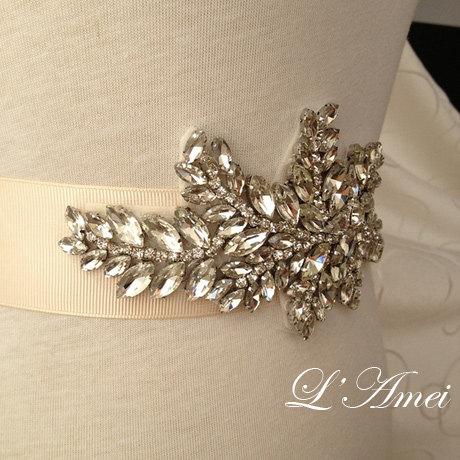 Mariage - Handmade Crystal Wedding Rhinestone Belt