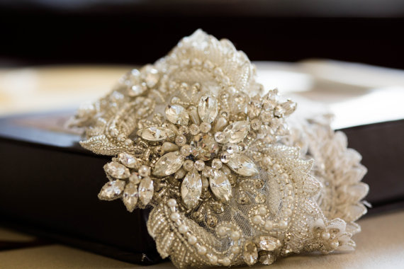Wedding - Wedding dress embellished sash