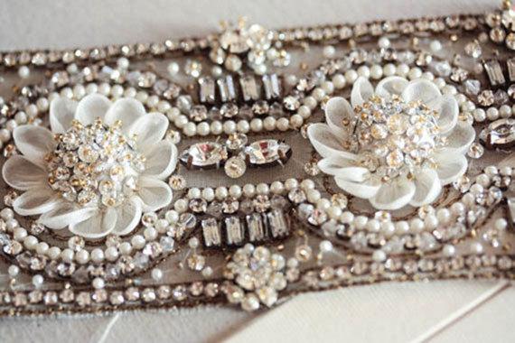 Hochzeit - Wedding Sash Belt