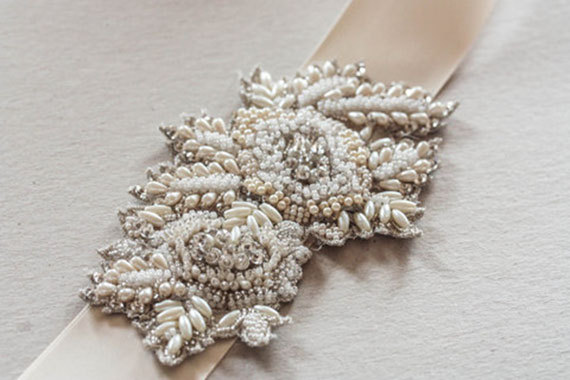 Wedding - Bridal Sash Applique