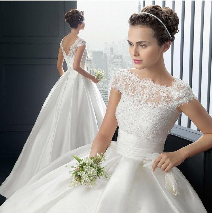White ivory wedding dress bridal gown