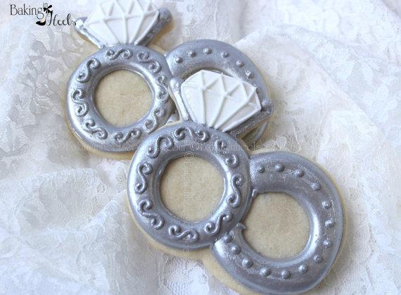 wedding rings decorated cookie wedding cookies ring cookies custom cookies wedding favors decorated cookies bridal shower cookies new