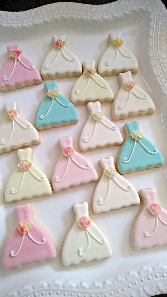 24 Petite Sized Dress Cookie Wedding Favors #2253080 - Weddbook
