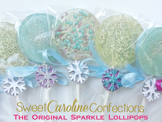 Mariage - Frozen Snowflake Lollipops - Set Of Six