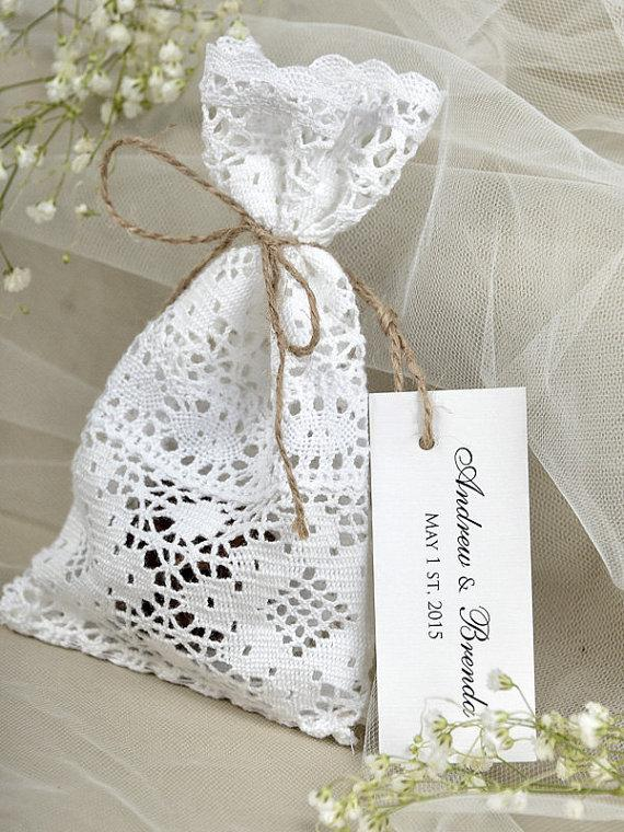Personalized Wedding Favor Bags And Boxes : ... favor-bag-lace-rustic-wedding-favor-lace-and-twine-favor-bags-custom