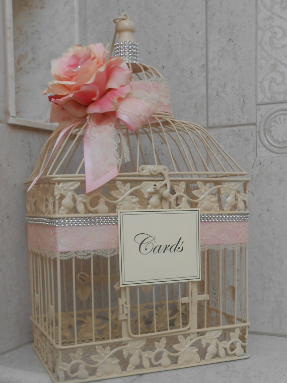 Birdcage Wedding Card Box Ivory Wedding Birdcage Wedding Card
